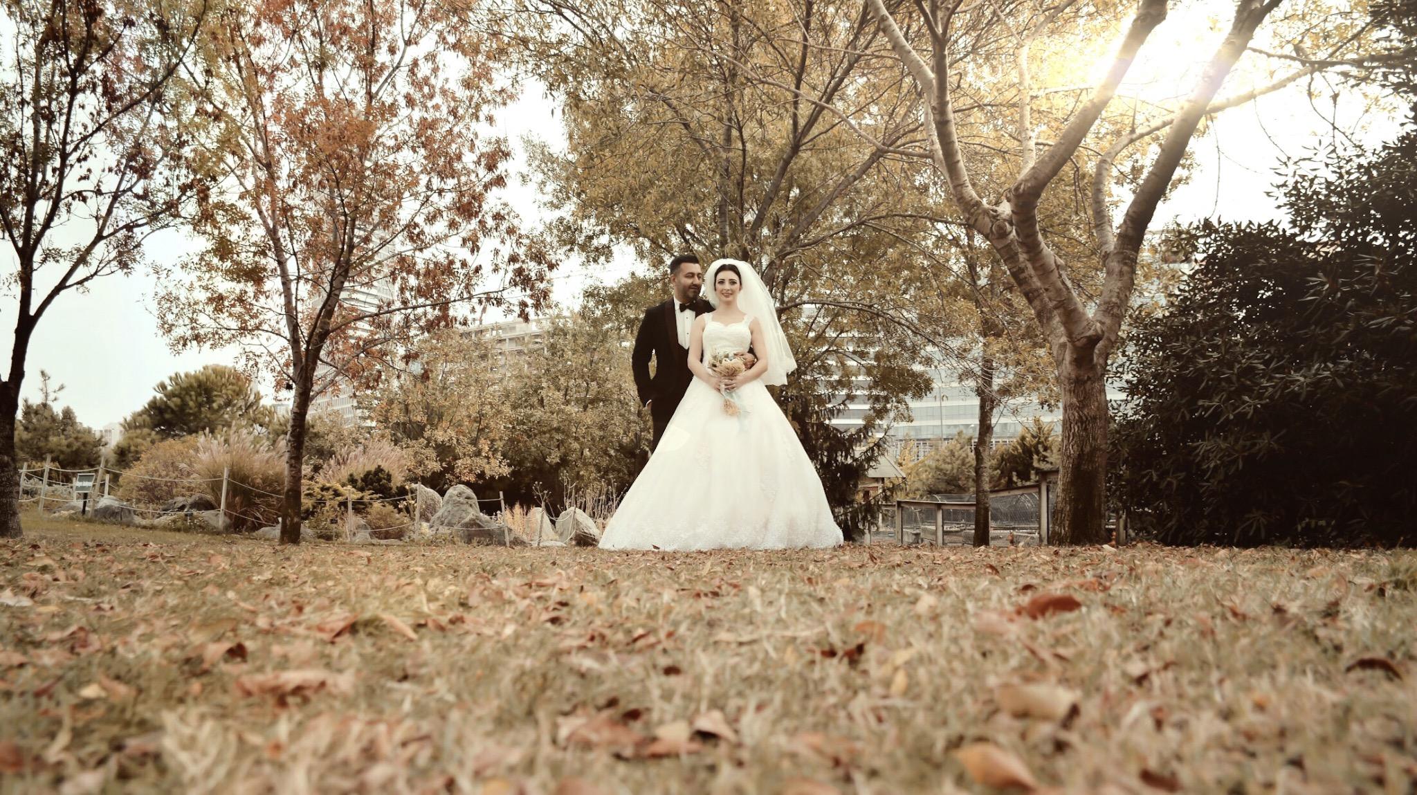 Ataşehir botanik park düğün çekimi