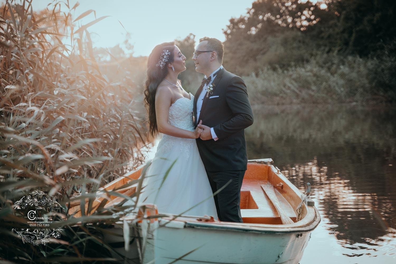 Tekne,göl düğün fotoğraf çekimi düğün fotoğrafçısı