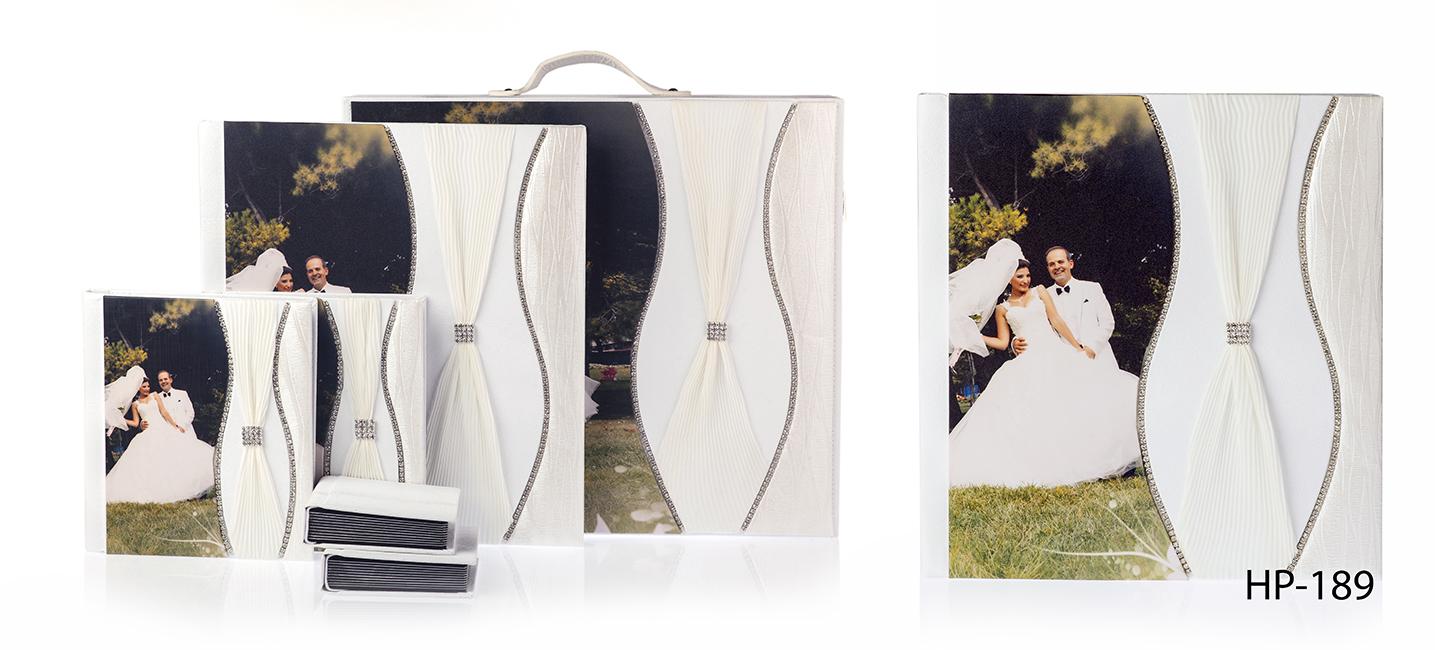 Panoramik ve kristal Çantalı düğün nişan Albüm Seti