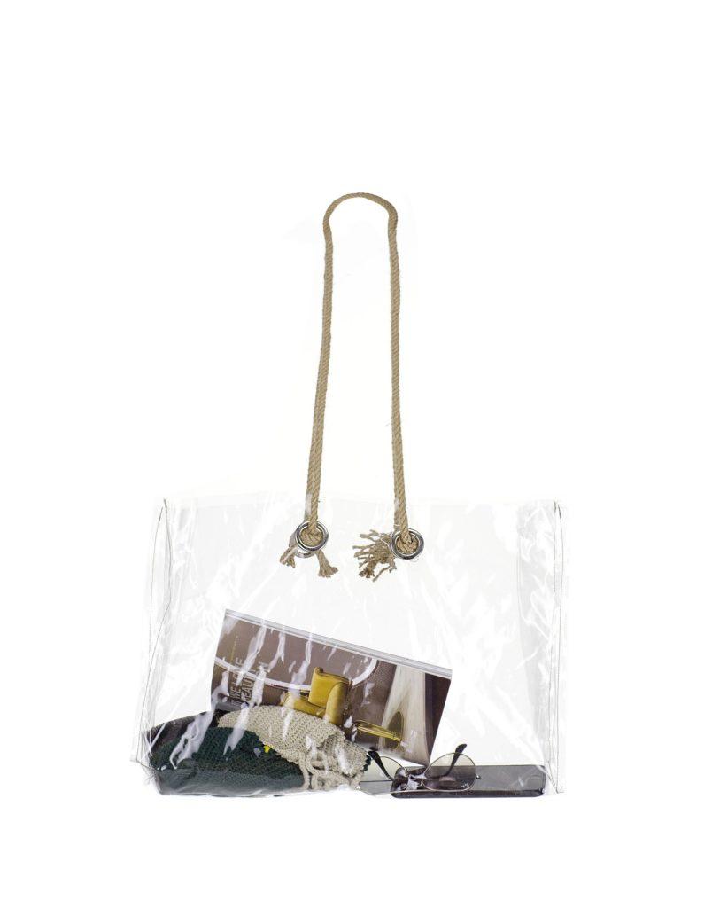 şeffaf çanta ürün fotoğraf çekimi