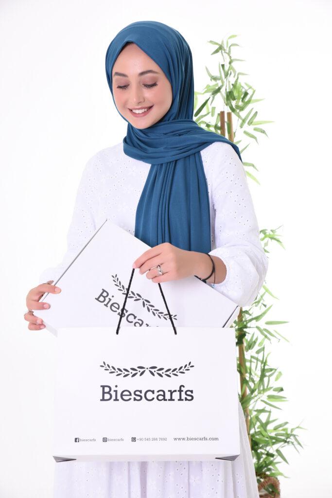 Tekstil şal fotoğraf çekimi