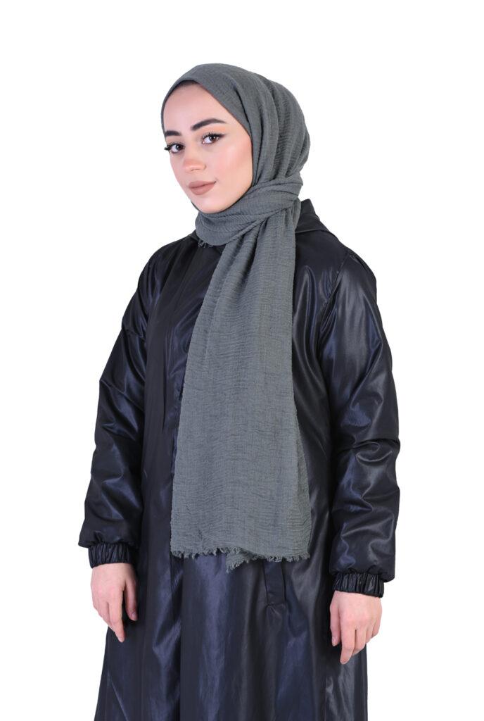 Tesettür tekstil şal  Elbise fotoğraf çekimi